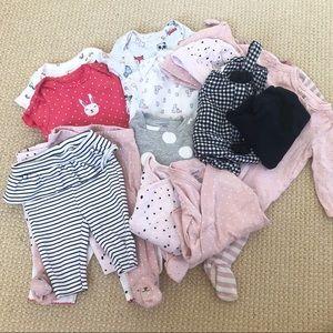 Baby Girl 3-6 Month Clothing Bundle Lot
